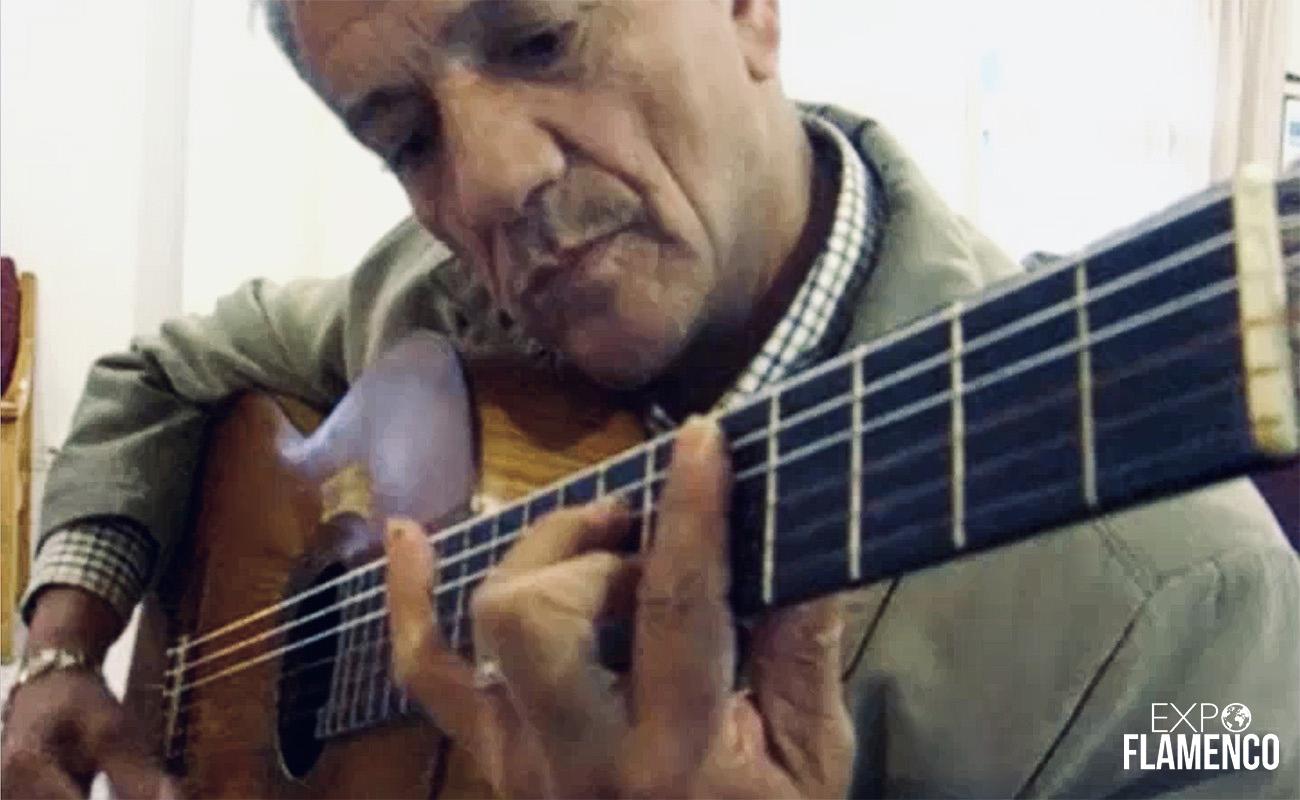 El guitarrista onubense Niño Miguel. Imagen de vídeo exclusiva de ExpoFlamenco.