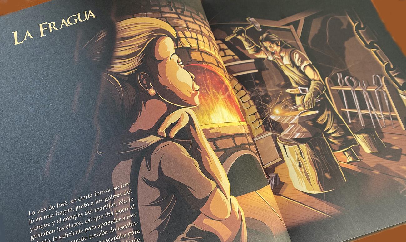 'La fragua', ilustración de Sete González en su libro 'Camarón: La leyenda del genio' (Lunwerg Editores).