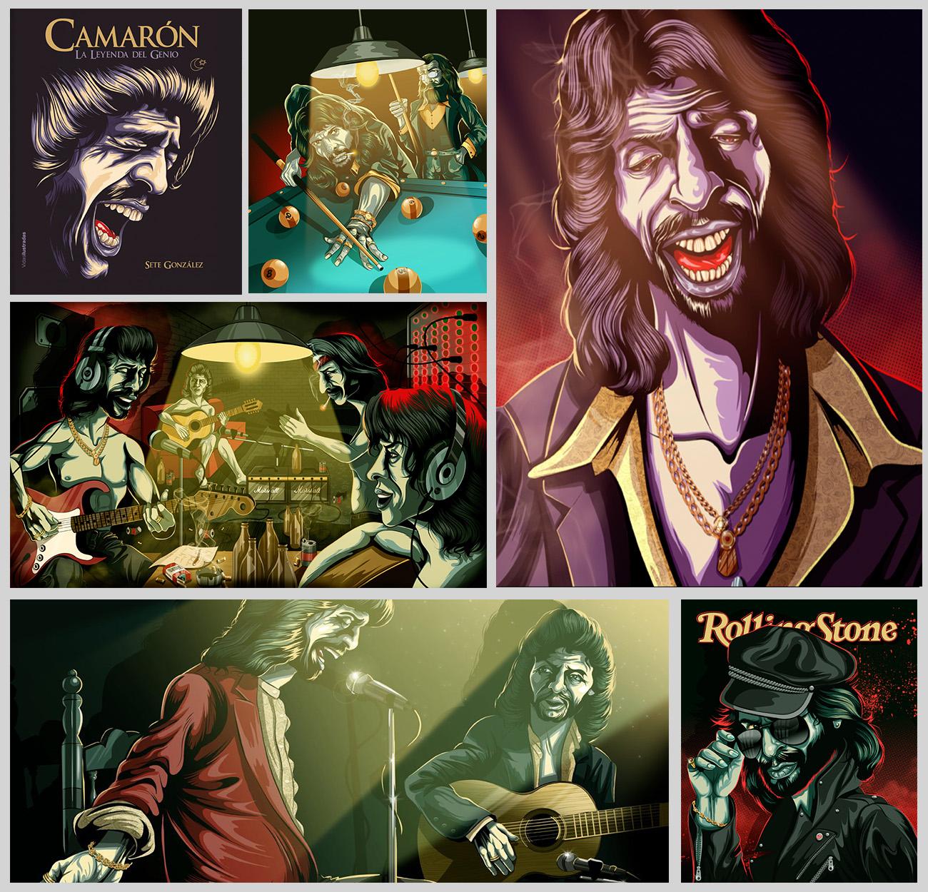 Ilustraciones de Sete González en su libro 'La leyenda del genio' (Lunwerg Editores).