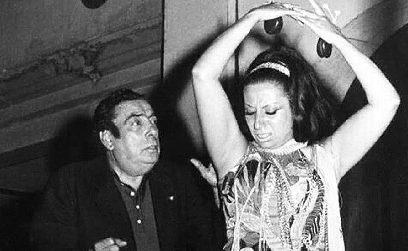 Manolo Caracol y su hija Luisa. Potaje Gitano de Utrera. Foto: José Jiménez