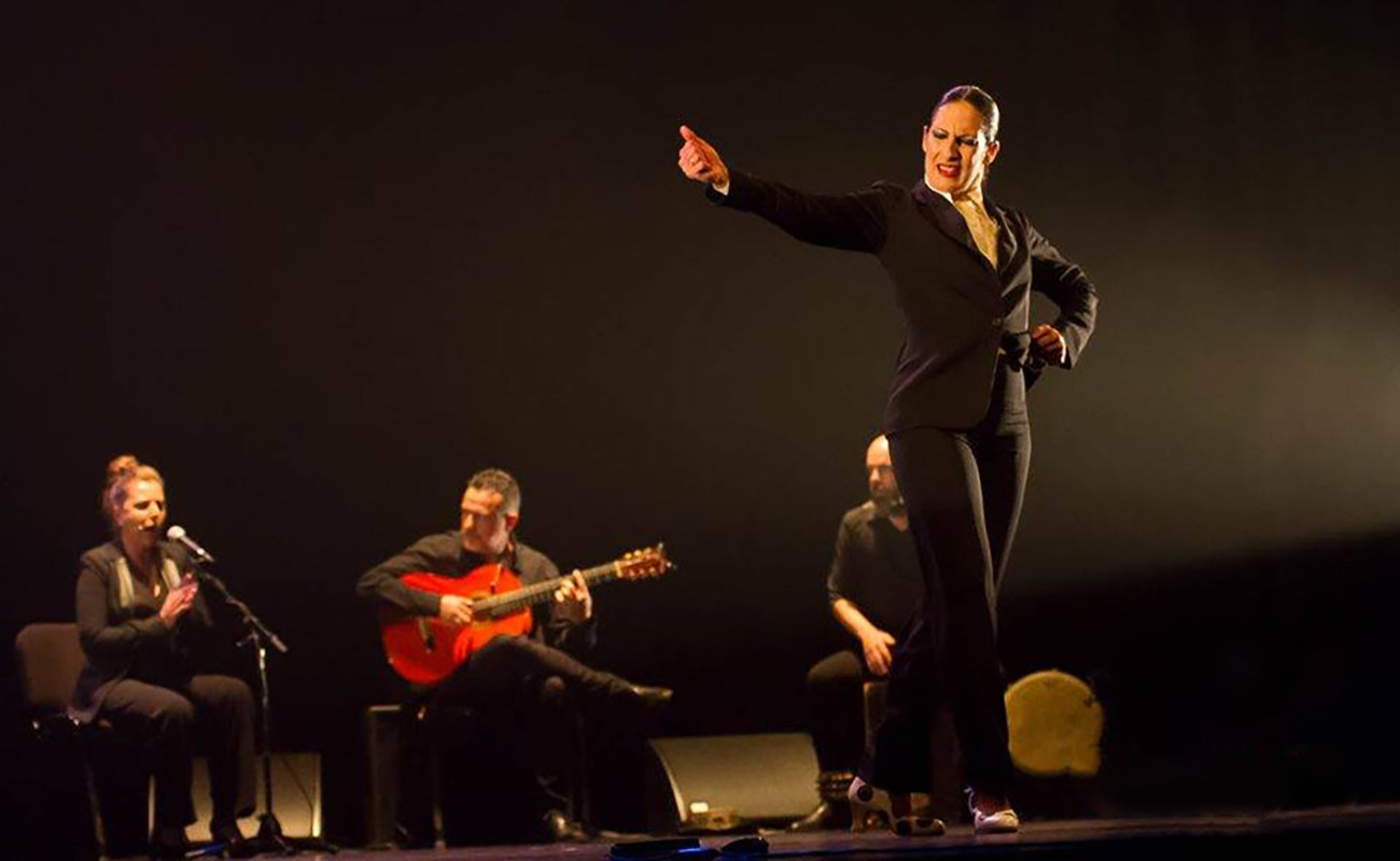 Actuación de Úrsula López en el Festival Flamenco Atlántico 2019. Centro Cultural Olga Cadaval, Lisboa. Foto: Jorge Torres Carmona (FB Flamenco Atlántico)