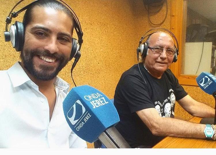 Fernando de la Morena, con Juan Garrido, autor de este artículo, en Onda Jerez.