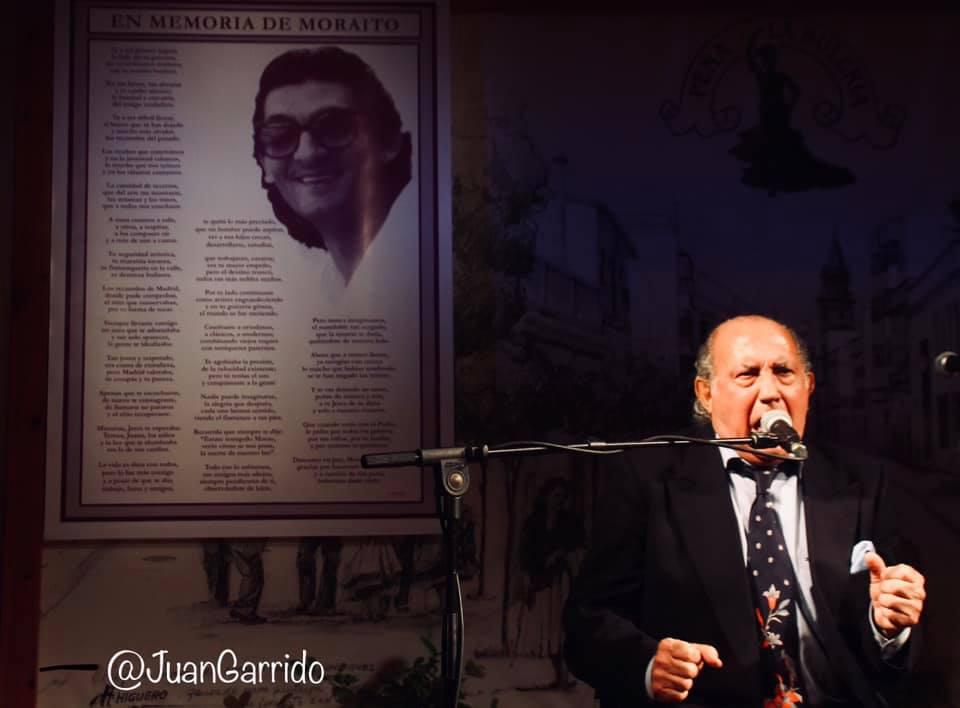Fernando de la Morena, en el homenaje a Moraíto. Peña La Bulería, Jerez. Foto: Juan Garrido