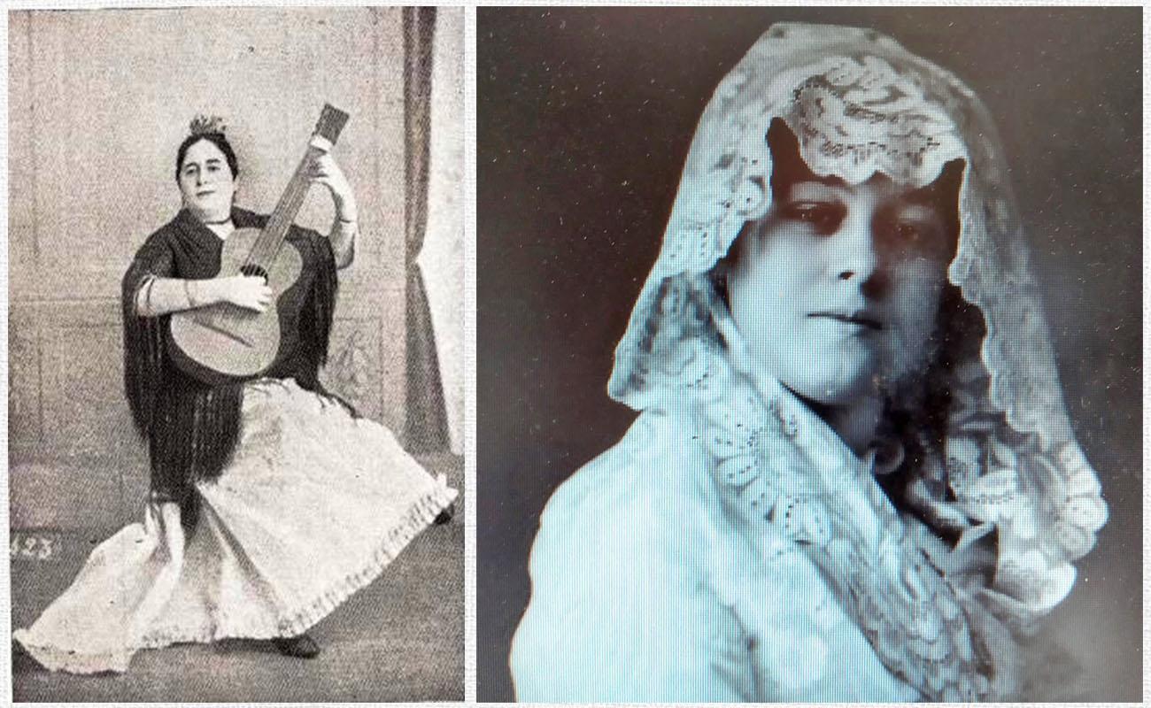 María Valencia La Serrana y Juana Valencia Serrana Chica, hijas de Paco La Luz.