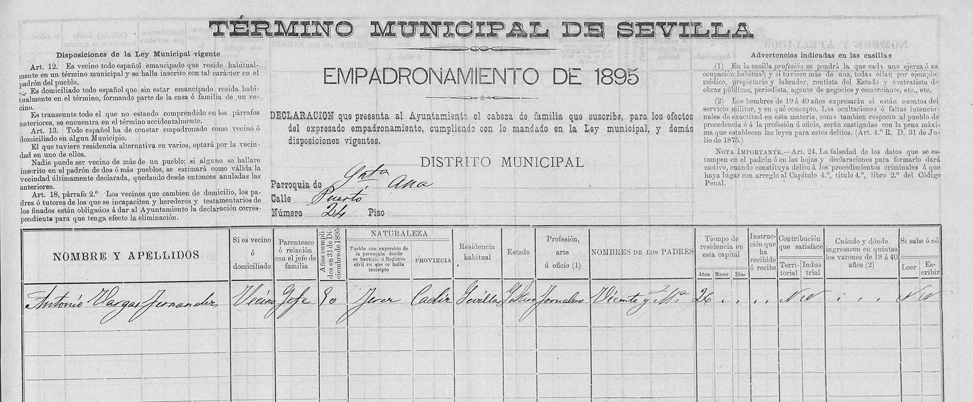 Padron Frijones 1895