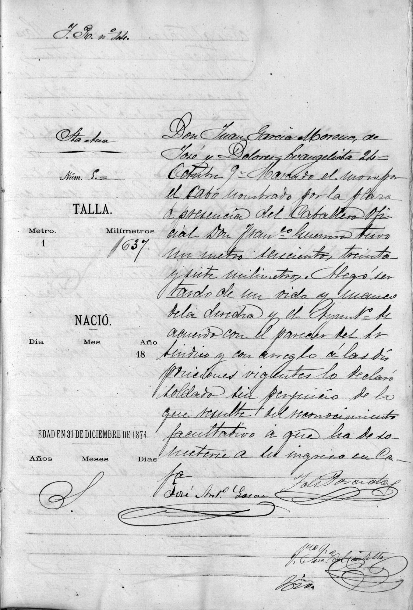 Quinta de Juan el Pelao, 1874. Archivo Manuel Bohórquez.