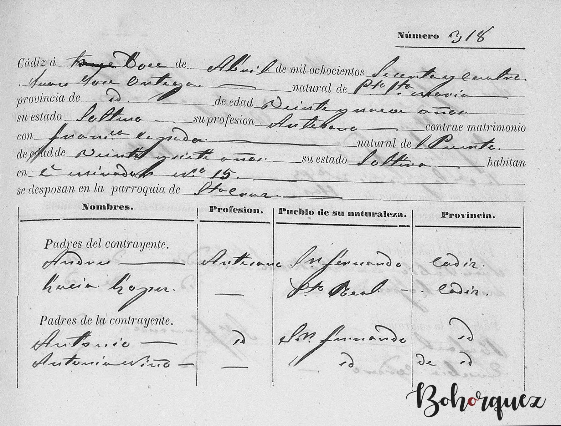 Boda de los padres de El Caoba, después de que él naciera. Archivo Bohórquez.