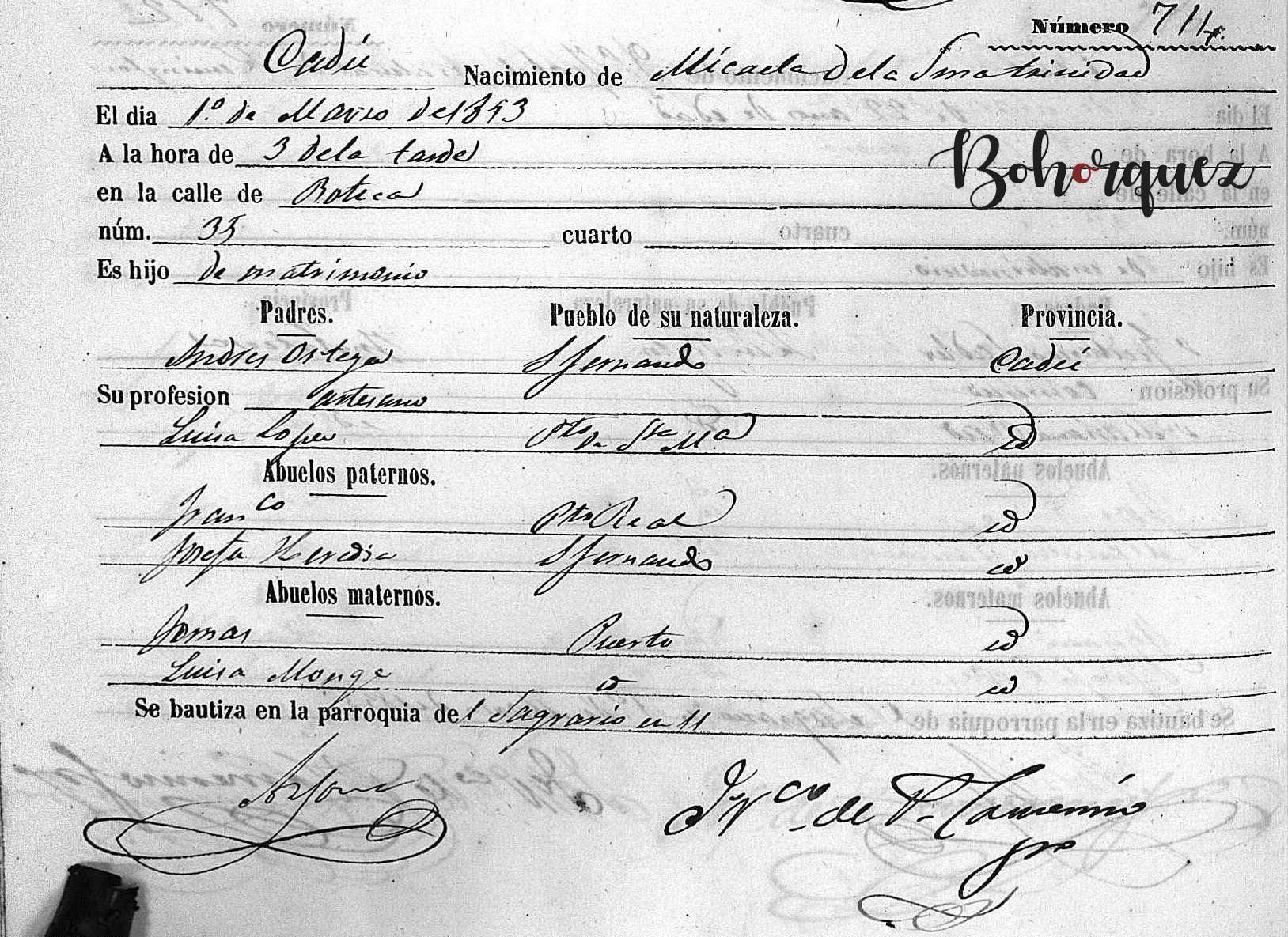 Una de las hermanas de Tomás el Nitri, nacida ya en Cádiz. Archivo Bohórquez.