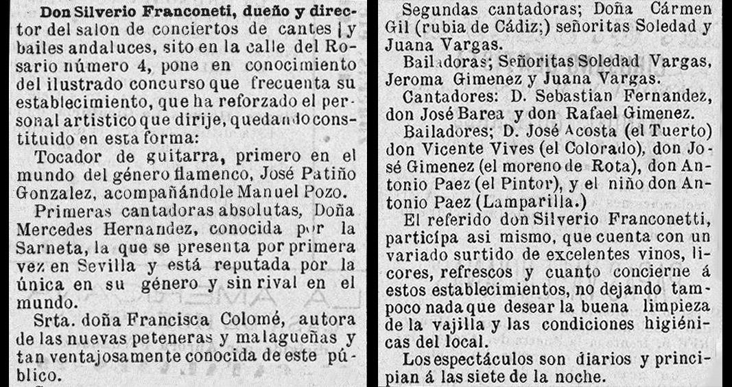 Recorte de prensa de El Toreo, 1882, donde queda claro que era su presentación en Sevilla. Archivo Bohórquez.