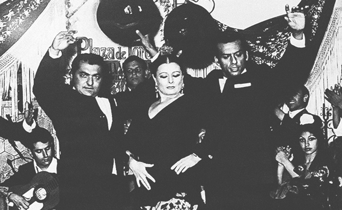 Matilde Coral con Farruco y Rafael el Negro: Los Bolecos. Foto de archivo.