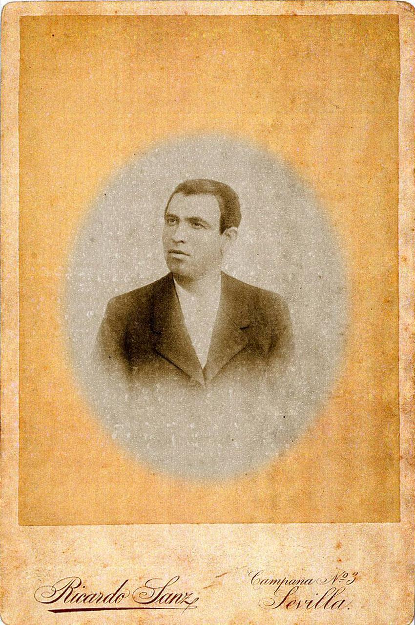 El célebre Tío Maero, de Carmona, gran amigo de Manuel Molina. Archivo Bohórquez.