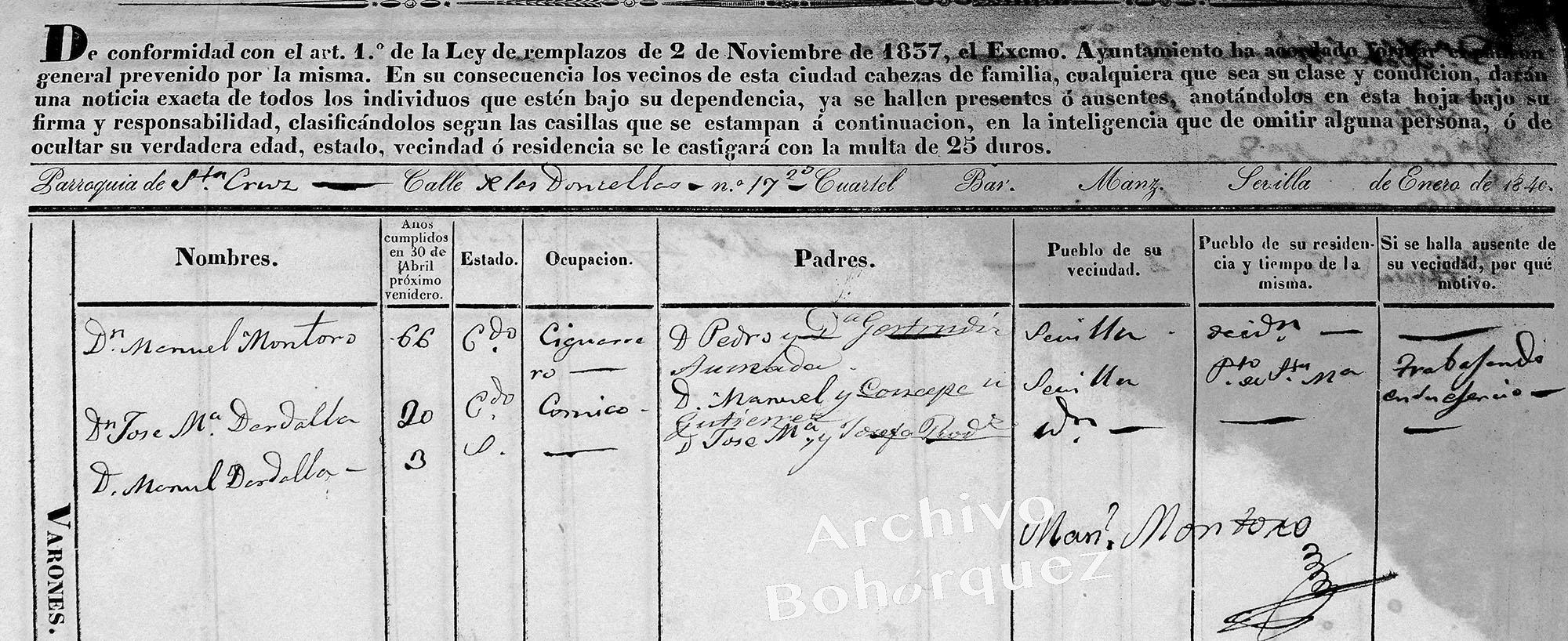 Otro vecino ilustre de Silverio, el actor José María Dardalla, de tanta importancia en los orígenes del flamenco. Archivo Bohórquez.