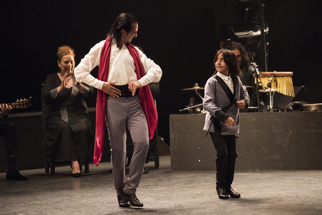 Farruquito y su hijo Juan El Moreno, 'Desde mi ventana'. Bienal de Flamenco de Sevilla 2020. Foto: Archivo Bienal - Claudia Ruiz Caro