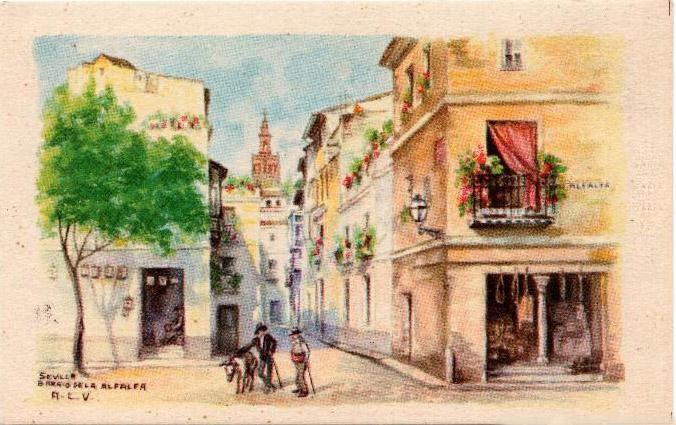 La calle Odreros, en el barrio de La Alfalfa, Sevilla. Silverio era de esa calle.